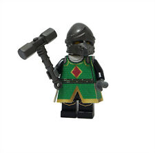 Green Elder Knight Custom Printed Clothes for LEGO Castle Minifigure