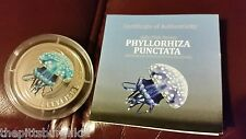 RARE PITCAIRN ISLANDS 2010 2$ DEEP SEA PHYLLORHIZA PUNCTATA SILVER COA ONLY 1000