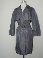 Authentic~Jil Sander~Lined Classic Trench Coat w/Belt~Gray~$2400