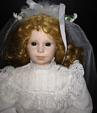 COLLECTOR PORCELAIN DOLL BY  Georgetown Collections, 1991, FIRST HOLY COMMUNION