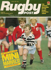 RUGBY POST Jun 1982 ENGLAND MAGAZINE