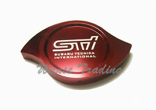 Universal STI Billet Aluminum CNC Machined Radiator Cap Cover Red Fit SUBURA