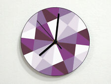 Hipster Triangles Pattern - Geometry Textures & Shapes - Custom Name Wall Clock