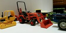 Lot of 9 tractors diecast Kubota Tractor Backhoe Ford bulldozer No Reserve