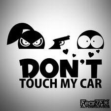 DONT TOUCH MY CAR FUNNY CAR VAN WINDOW JDM VW VAG EURO VINYL DECAL STICKER GIRL