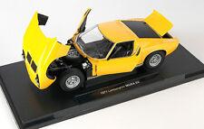Blitz envío Lamborghini Miura SV 1971 amarillo Welly modelo auto 1:18 nuevo & OVP