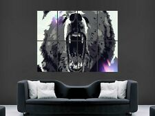 ANGRY BEAR ANIMAL  POSTER WALL ART PICTURE  LARGE GIANT