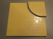 Lego Base Plate Building Board 24 x 24 Studs with Removeable Corner in Yellow