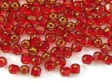 20 RED faceted lantern Czech glass beads - 6mm