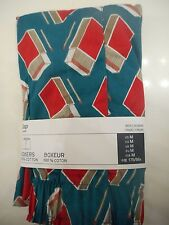 GAP NWT Men Med 32 33 34 waist deep teal with red grey match boxes cotton boxer