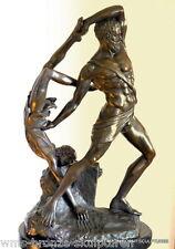 Antonio Canovas  HERCULES AND LICHAS Bronzefigur signiert Bronzeskulptur Statue