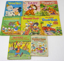 Lot of 8 Whitman Tell-A-Tale All DISNEY 1960s Donald Goofy Pluto Mickey 50s 60s