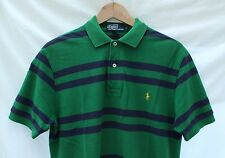 POLO BY RALPH LAUREN POLO SHIRT BLUE & GREEN STRIPED COTTON SMALL S/M