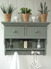 'SECONDS' Shabby Chic Wall Unit Shelf Storage Cupboard Cabinet Kitchen Bathroom