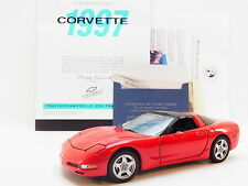 LOT 14281 | Brillante Franklin Mint 1:24 Chevrolet Corvette 1997 C5 Cabrio rot