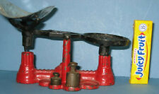 """ORIG. OLD CAST IRON TOY """"JUST US"""" SCALE  W/SCOOP & 2. WEIGHTS, * ON SALE* CI 396"""
