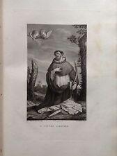 F. ROSASPINA SAN PIETRO MARTIRE ACCADEMIA BELLE ARTI acquaforte 1830 BOLOGNA