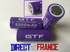 3 PILES ACCUS RECHARGEABLE BATTERIE GTF 26650 8800mAh 3.7V Li-ion PUISSANT
