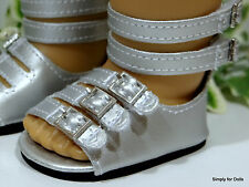 "SILVER Metallic Hi Top DOLL SANDALS SHOES fits 18"" AMERICAN GIRL Doll Clothes"
