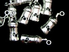 10 Pcs - Tibetan Silver Baby Bottle Charms 24mm Baby Milk Drink Newborn - Z142