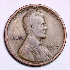 1917-D Lincoln Wheat Cent Penny LOWEST PRICES ON THE BAY!  FREE SHIPPING!