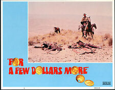 FOR A FEW DOLLARS MORE original lobby card CLINT EASTWOOD 11x14 movie poster