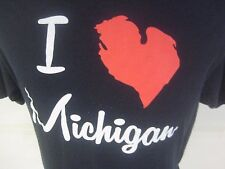I Love Michigan T-Shirt Black Fruit of the Loom Size XL