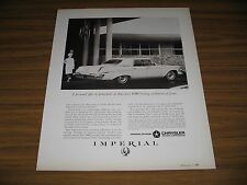 1963 Print Ad Chrysler Imperial LeBaron 4-Door Happy Couple