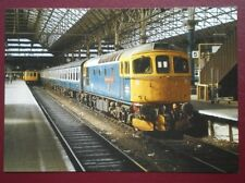 POSTCARD LOCO NO 33027 'EARL OF MOUNTBATTERN OF BURMA' AT MANCHESTER PICCADILLY