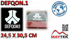 Defqon 1 - 245x305mm-blanco/with e XL pegatinas, pegatinas, decal, autocollant