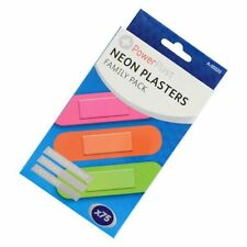 New 75 Neon Waterproof Plasters Padded First Aid Latex Free Sterile Band Aid