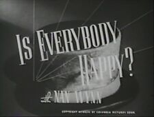 IS EVERYBODY HAPPY 1943 (DVD) TED LEWIS, MICHAEL DUANE