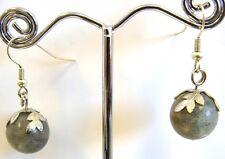 Handmade 'Berries' Genuine Labradorite Gemstones Earrings by MENGIZ