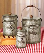 Set of 3 Canisters  Country Living  Home Accents Storage Kitchen Bath