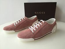 GUCCI women's sneakers Designer Peonia Rose Suede shoes Size 40.5 US 10.5