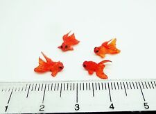 1:12 Scale 4 Chinese Goldfish (O)For A Dolls House Miniature Garden Pond