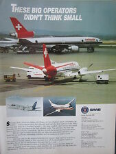 6/1992 PUB SAAB AIRCRAFT SAAB 340 REGIONAL AIRLINER CROSSAIR SWISSAIR AD