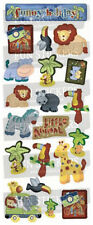 "BEAUTIFUL FUN STICKERS "" ON SAFARI "" FOR CARDS & CRAFT"