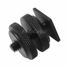 """Pro 1/4""""-20 mount adapter for tripod screw to camera flash hot shoe"""