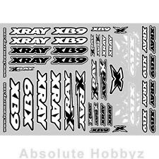 Xray XB9 Sticker For Body - White  - XRA397358