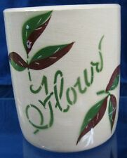 Vintage Yellow Ware Pottery Canister Flour