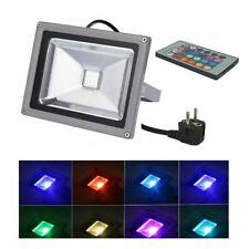 LED 50W 230V Flutlichtstrahler farbig RGB IP65 Gartenstrahler Fluter Strahler