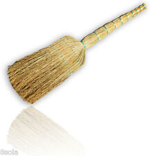 Traditional Unique American Hand Made Corn Sweeping Broom Stable Yard Brush M2