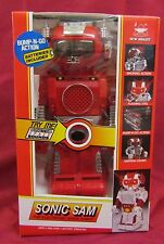 1991 New Bright Red Sonic Sam Battery Operated Bump-N-Go Action Robot No. 155
