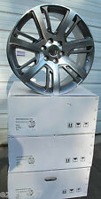 "22"" CADILLAC ESCALADE FACTORY STYLE MACHINED FACE / GUNMETAL WHEELS RIMS 4738"