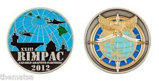 "MARINE CORPS RIMPAC RIM OF THE PACIFIC COMMAND 1.75"" CHALLENGE COIN"