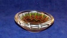 Seldom Seen 50s Flygsfors Swedish Art Glass Miniature Bowl Signed by Paul Kedelv
