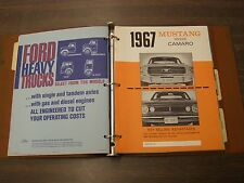 OEM Ford Dealers 1967 Facts Book Mustang Cougar Mercury Comet Cyclone