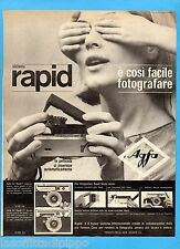 QUATTROR964-PUBBLICITA'/ADVERTISING-1964- AGFA sistema RAPID (versione B)