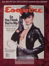 ESQUIRE April 1981 MALCOLM MCDOWELL Lisa Eichhorn James Dickey Laurence Shames
